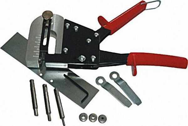 Handlochstanze inklusive Stempel 3, 3 - 4, 2mm 4, 9 + 6, 2mm