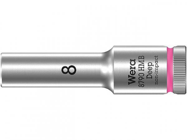 Steckschlüsseleinsatz WERA 3/8', 6-kant, lang, SW 15,0 Länge 64mm