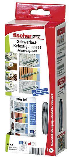 Fischer 536669 Schwerlastbefestigung Set Multifunktionsmörtel mit Ankerstange M 8 SB-Programm
