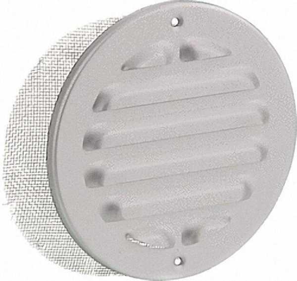 Wetterschutzgitter, rund, Alu 200mm mit Insektenschutz und Schraublöcher