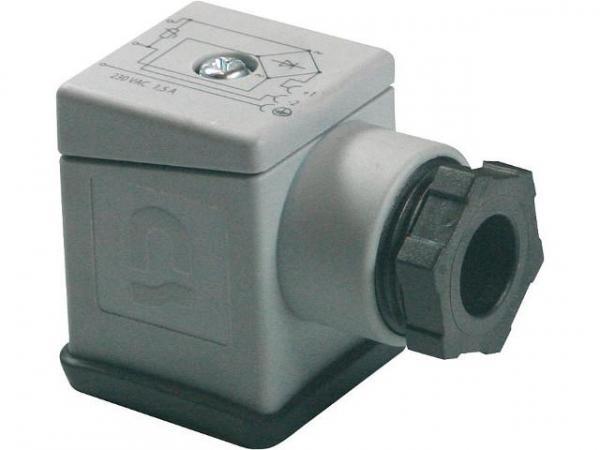 GSR Gerätestecker mit Brückengleichrichter und Varistor Schutzbeschaltung