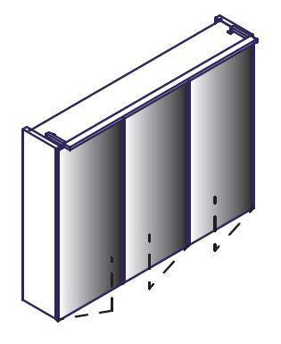 LANZET 7585112 Spiegelschrank 80/60/12,5 Weiß, 3 Türen L6+TrBox