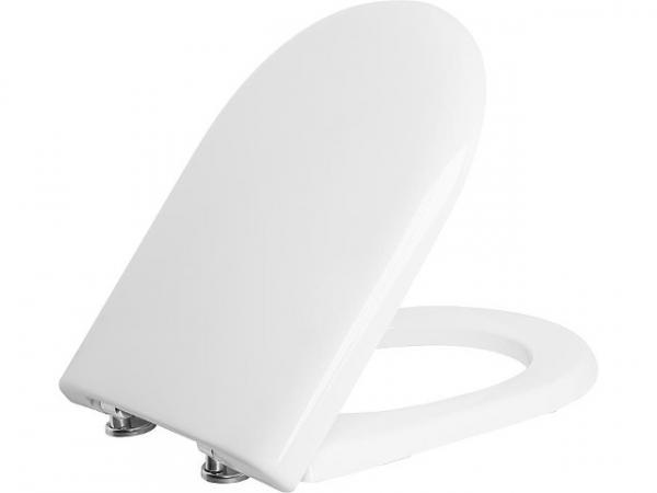 WC-Sitz Laco, weiß, Softclose, aus Duroplast,Edelstahlscharnier