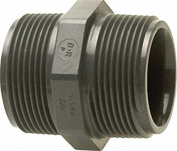 PVC-U - Klebefitting Doppelnippel, 1 1/2''