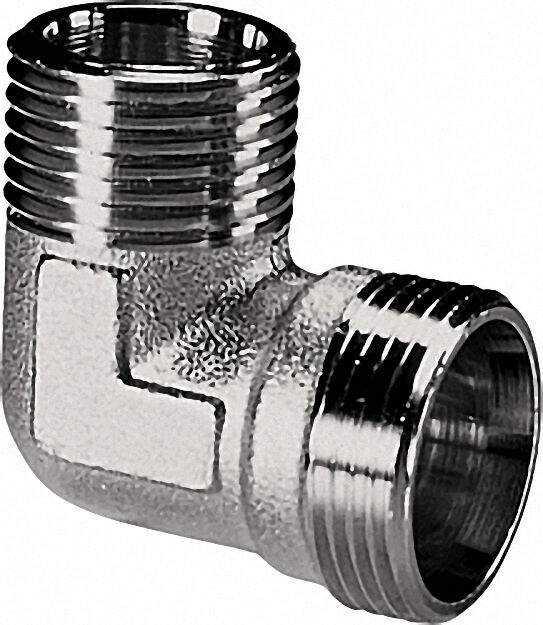 Winkel-schraubverbinder AG x AG 1/2 AG x Eurokonus Messing blank