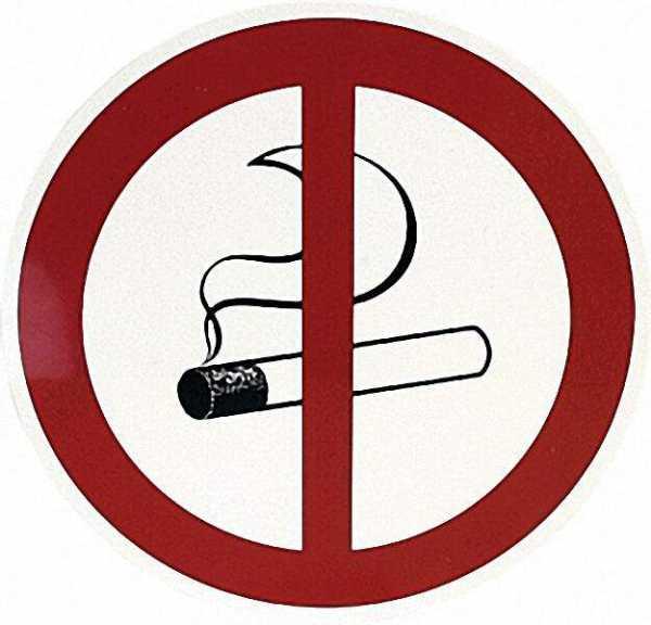 Verbotszeichen, ''Rauchen verboten'' D= 20cm Kunststoff