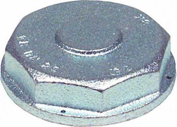 Einstutzen-Verschlußkappe DN 40 Anschluss-Gewinde R 2 3/4'' verzinkt