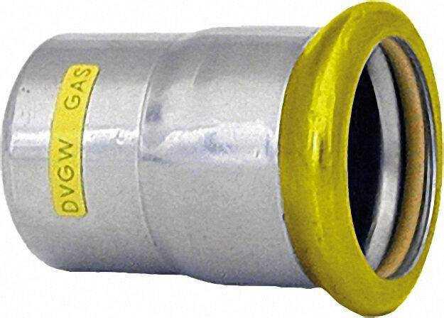 Edelstahl Pressfitting Gas Verschlussstopfen, DN 35