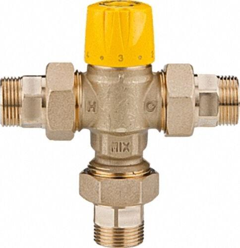 Thermomischer Easyflow Mix 779 inkl. Verschraubung 30-65°C, Kvs 1,5, DN15 (1/2``), AG