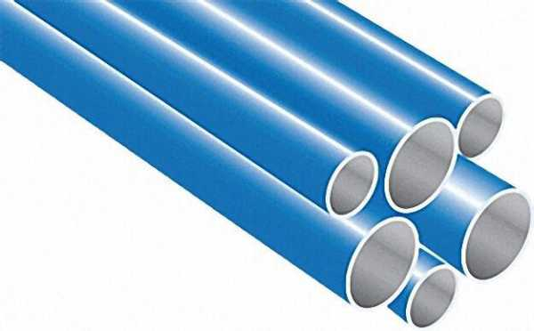 Aluminiumrohr, AD 28mm, ID 26mm Farbe: blau, Stangenware VPE = 10x3m = 30m