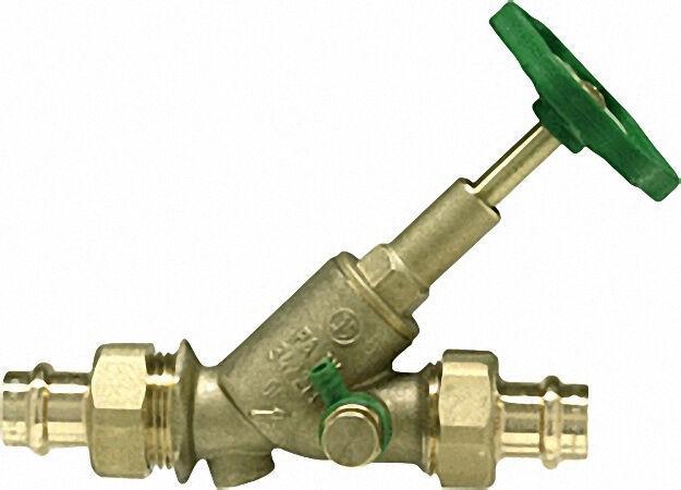 Schlösser Freistromventil mit Pressverschraubung-Viega DN 20/15mm stei