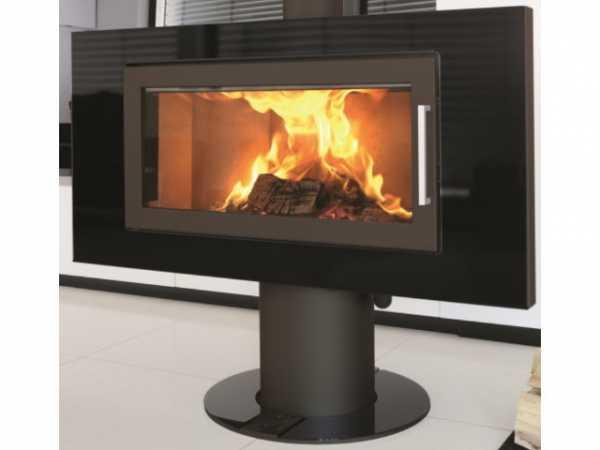 Buderus 80364328 Kaminofen Fire SL, 7,5 kW, Glas black / Stahl black