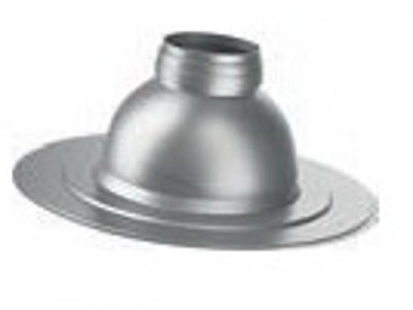 Buderus Flachdach-Klebeflansch, Ø 125 mm, 120 mm hoch, verstellbar 0 °–15 °, 7738112510