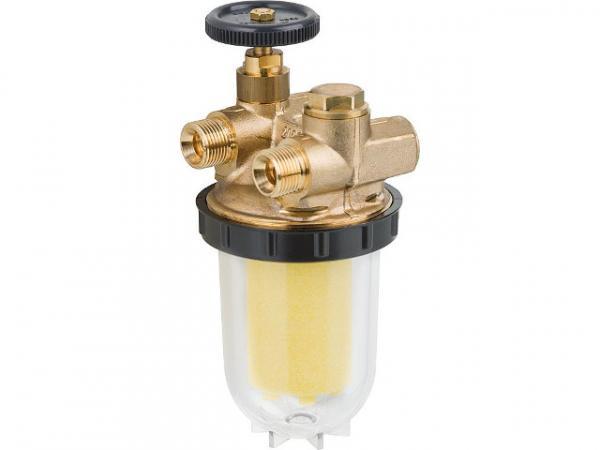 OVENTROP 2120561 Heizölfilter für Zweistrangsystem brennerseitig Außengewinde3/8'' tankseitig Innengewinde3/8''