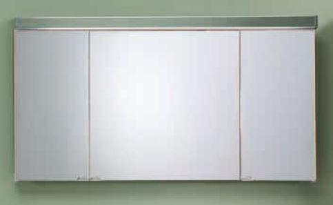 LANZET 7470512 Spiegelschrank 120/60/13,6 Eiche Maron, 3 Türen L6+EBox