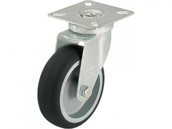 BLICKLE Lenkrolle LPA-TPA 75G Tragfähigkeit 75 kg Rad D= 75mm, Plattengröße 60x60