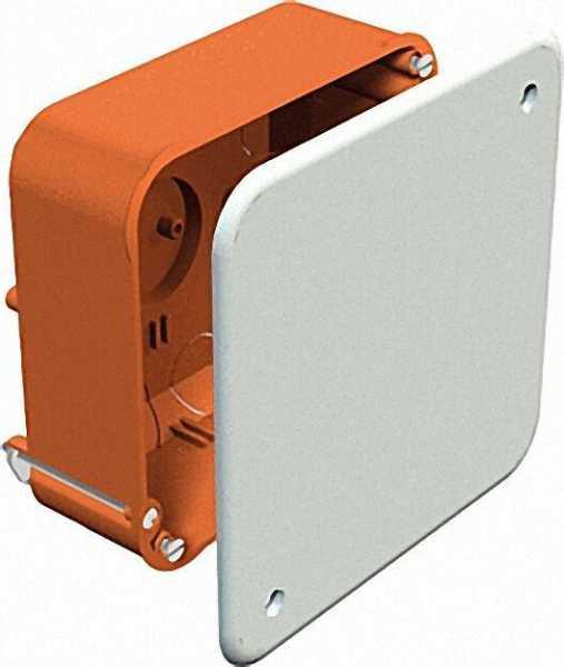Hohlwand-Verbindungskasten H 50 x L 105 x B 105mm Typ HV 100 KD, orange / 1 Stück