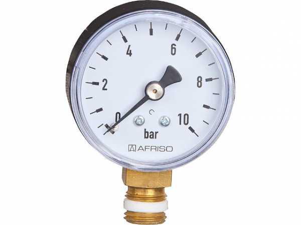 AFRISO Anschluß: Radial Neu Heizungsmanometer 0-4 bar