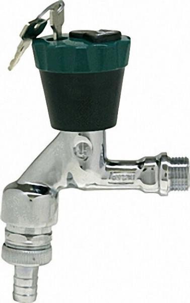 SCHLÖSSER Auslaufhahn Wasser-safe mit Belüfter, Rückflussverh. und Schlauchverschraubung