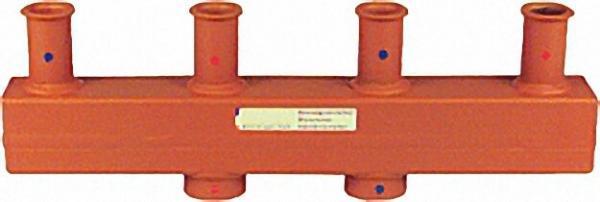 MAGRA Kesselverteiler-Ovalflansch Typ 60-12, 5 Oval-Flansch mit zwei Heizgruppen