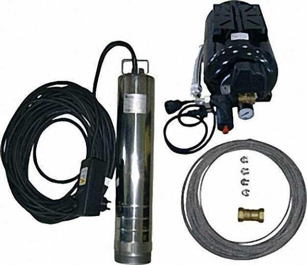Wasservers. paket mit TM 12, Tiefbrunnen- pumpe, 4500 l/h, 900 W, Druckschalter 5-WegeStück, Hydrost