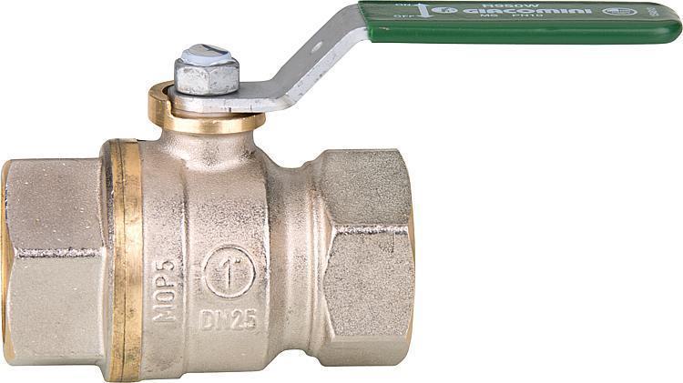 """Trinkwasser-Kugelhahn R950W Dado, DN20 (3/4"""") IG Messing vernickelt /"""