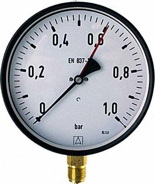 Manometer 0-16 bar 160mm für G1/2