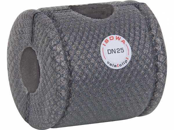 ISOWA 21089 Kugelhahn-Isolierung vela (clip) geschäumtes Polyethylen grau DN 15