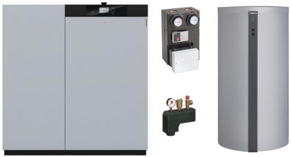 Viessmann Vitoligno 300-C, Pelletkessel, 18kW, Vorratsbehälter, Vitocell 100-E, 600 L, VL3C098