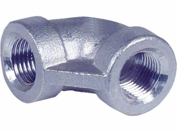 Edelstahl Gewindefitting Winkel 90° V4A 1/2'' EF 90