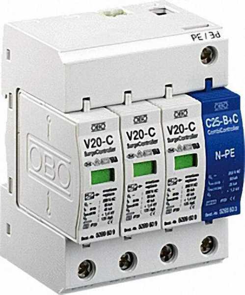 OBO Überspannungsableiter V 20-C/3+NPE-280 280 V, 3+NPE, 1 Stück