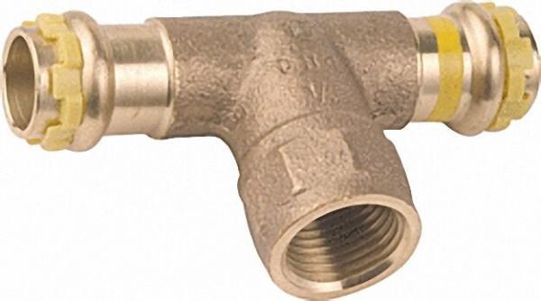 Rotguß Pressfitting Gas T-Stück mit IG 28x1/2x28 PG 4130G Gas