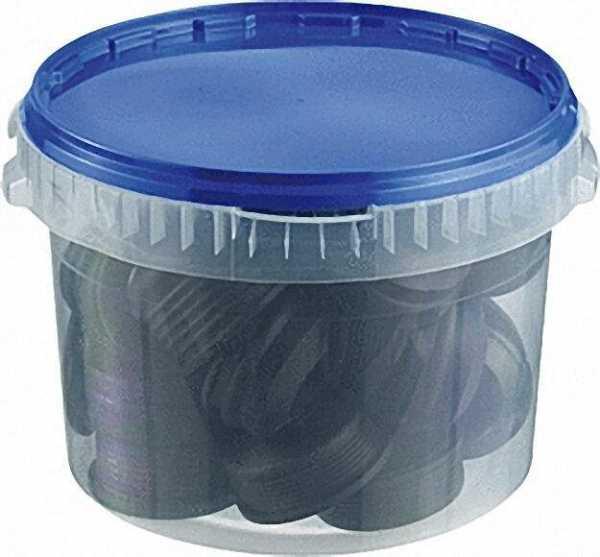 HT-Gummi-Nippel-Sortiment blau, VPE 25 Stück
