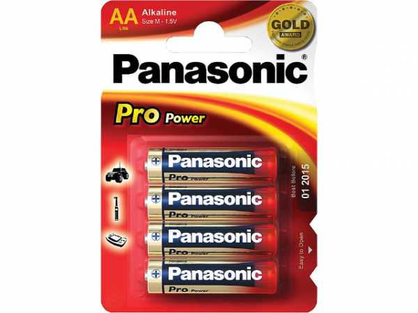 Batterie Panasonic PRO Power LR6 AA Mignon 1 Pack mit 4 Stück