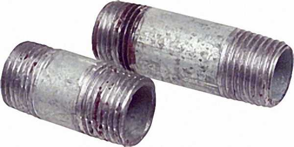 Rohrdoppelnippel, verzinkt 1'', 90mm AG/AG WG801