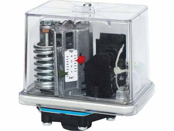 Druckschalter mit Perbunan-Membrane für Öl, Wasser u. Luft Typ FF4-8DAH / max. Betriebsdruck 30 bar