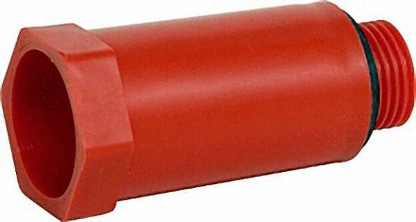 Baustopfen 1/2'' mit Kunststoffgewinde rot