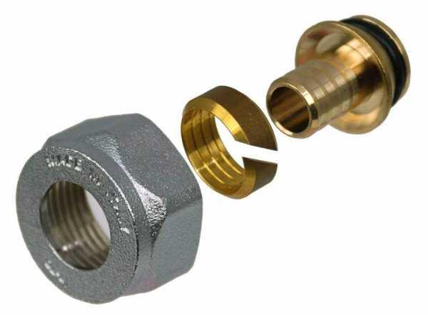 Klemmringverschraubung mit Überwurfmutter vernickelt 16 x 2mm VPE = 2 Stück