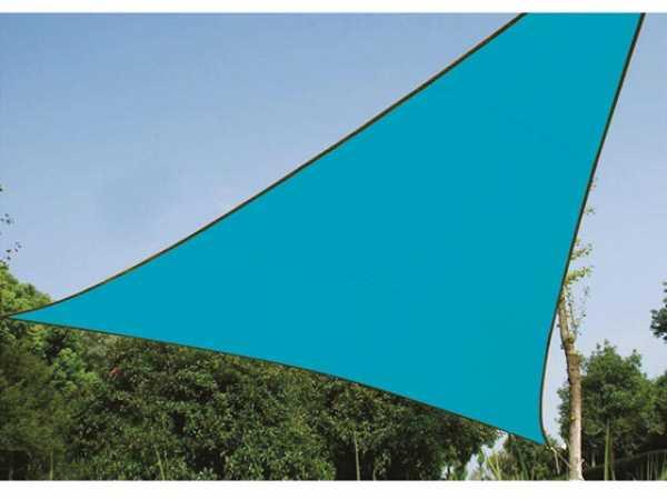 Perel Sonnensegel Dreieck 3.6x3.6 mx3.6 m Himmelblau Sonnenschutz Terrasse GSS3360BL