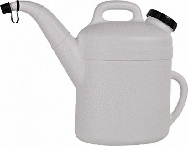 Kühlwasserkanne aus Polyethylen 10 Liter komplett mit WinkelStück weiß