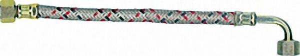 Ölschlauch beiderseits 3/8'' Überwurfür mutter, einerseits mit 90 Rohrbogen 1250 lg. Intercal, Conva