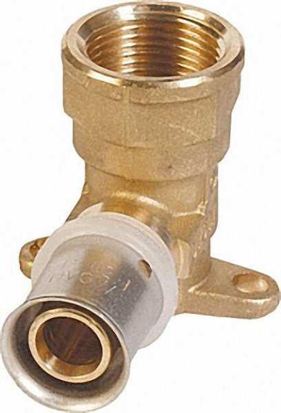 Pressfitting für MSVR Wandwinkel kurz verstärkt IG 26x3mm-3/4'' h=52mm