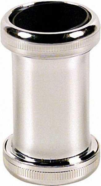 Kupplung Messing verchromt 32 x 32mm, mit 2 konischen Dichtungen