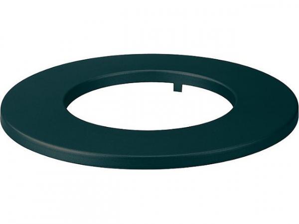 lackierte Rosette, schwarz, für DN150, Randbreite 60mm