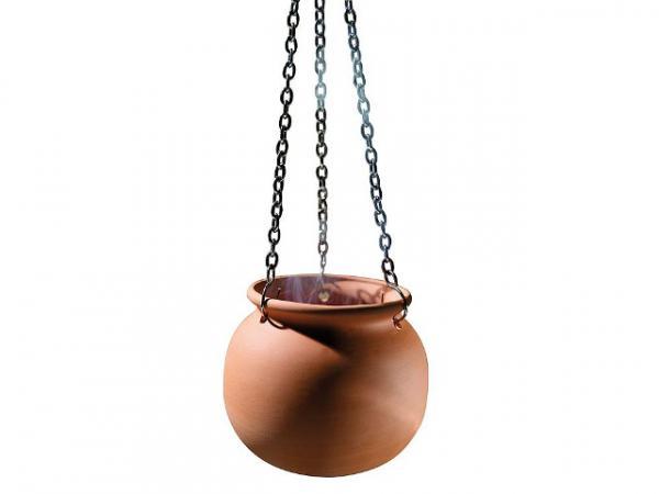 Aromatopf aus Terrakotta, inkl. Kette