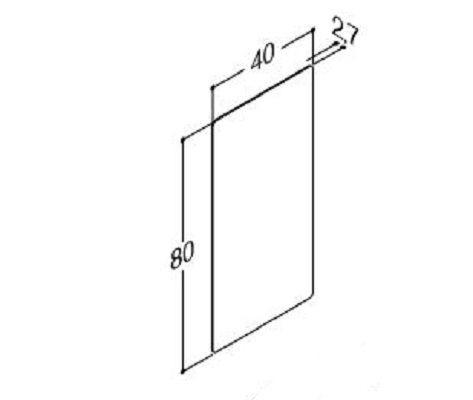 DANSANI 91041 Spiegel mit abgerundeten Ecken ohne Sensorschalter B-40 cm
