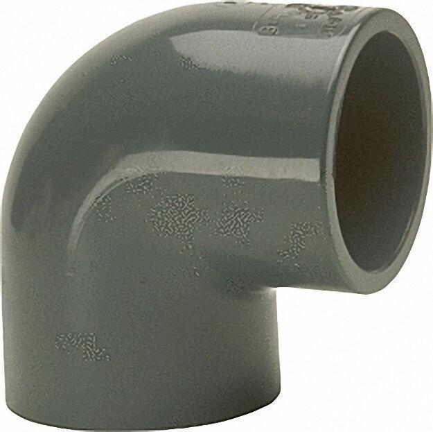 Pvc-u - Klebefitting Winkel 90°, 63mm, beidseitig Klebemuffe