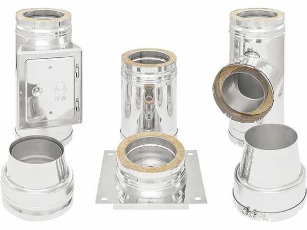 Doppelwandiges Abgassystem - Bausatz DN 150/210 mm