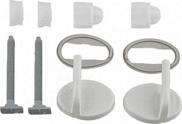 Universal Kunststoffschanier für WC-Sitz Trend Farbe: weiß