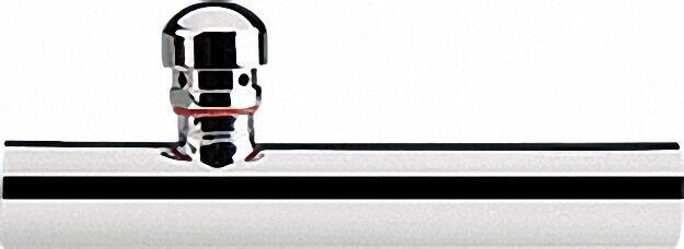 Wandrohr mit Rohrbelüfter Messing verchromt 32 x 200mm